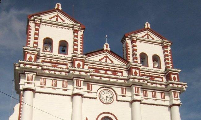 The main church in Guatape