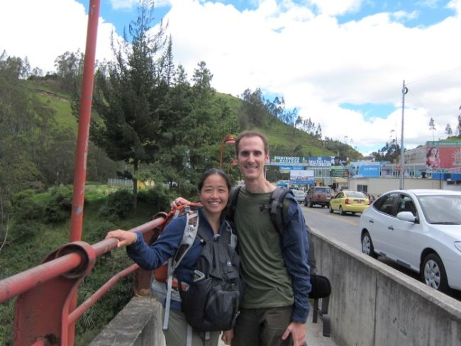 At the Colombia - Ecuador border crossing