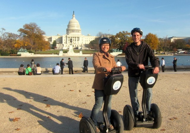 Jack and Jill on Segways in front of the Capitol Building