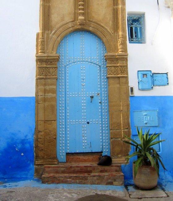 Houses inside Kasbah the Uddaya, Rabat, Morocco