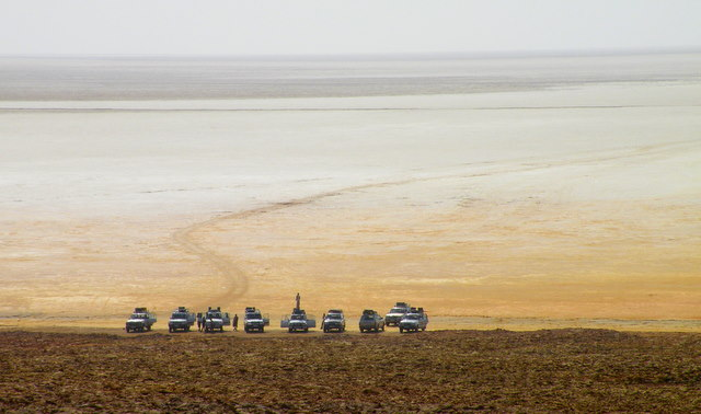 Jeep convoy on the Danakil Depression tour