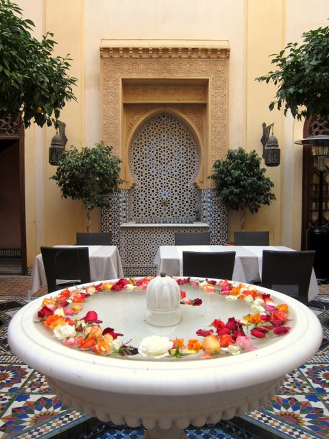 The fountains in Riad Al Moussika