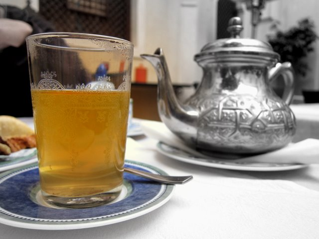 Moroccan tea pot - holds more tea than you'd imagine