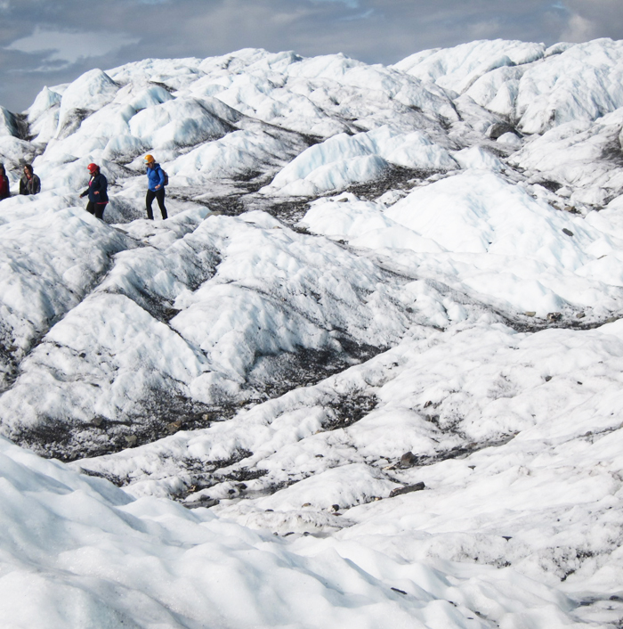 walking on glacier, Matanuska