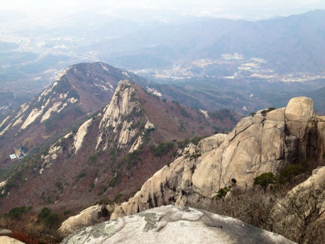 view from the top of bukhansan