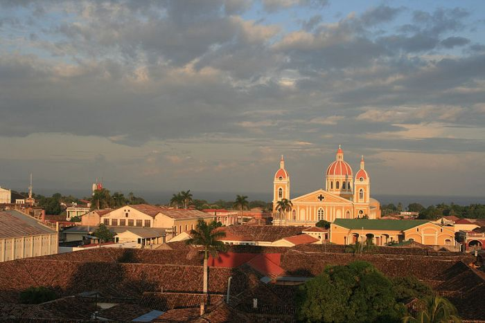 View of Granada, Nicaragua with the Cathedral by Carlos Adampol