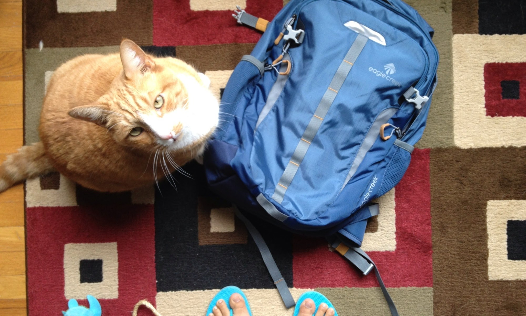 Traveling with only a daypack challenge