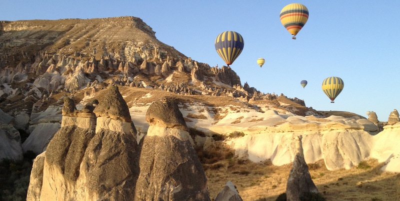 hot air ballooning over cappadocia