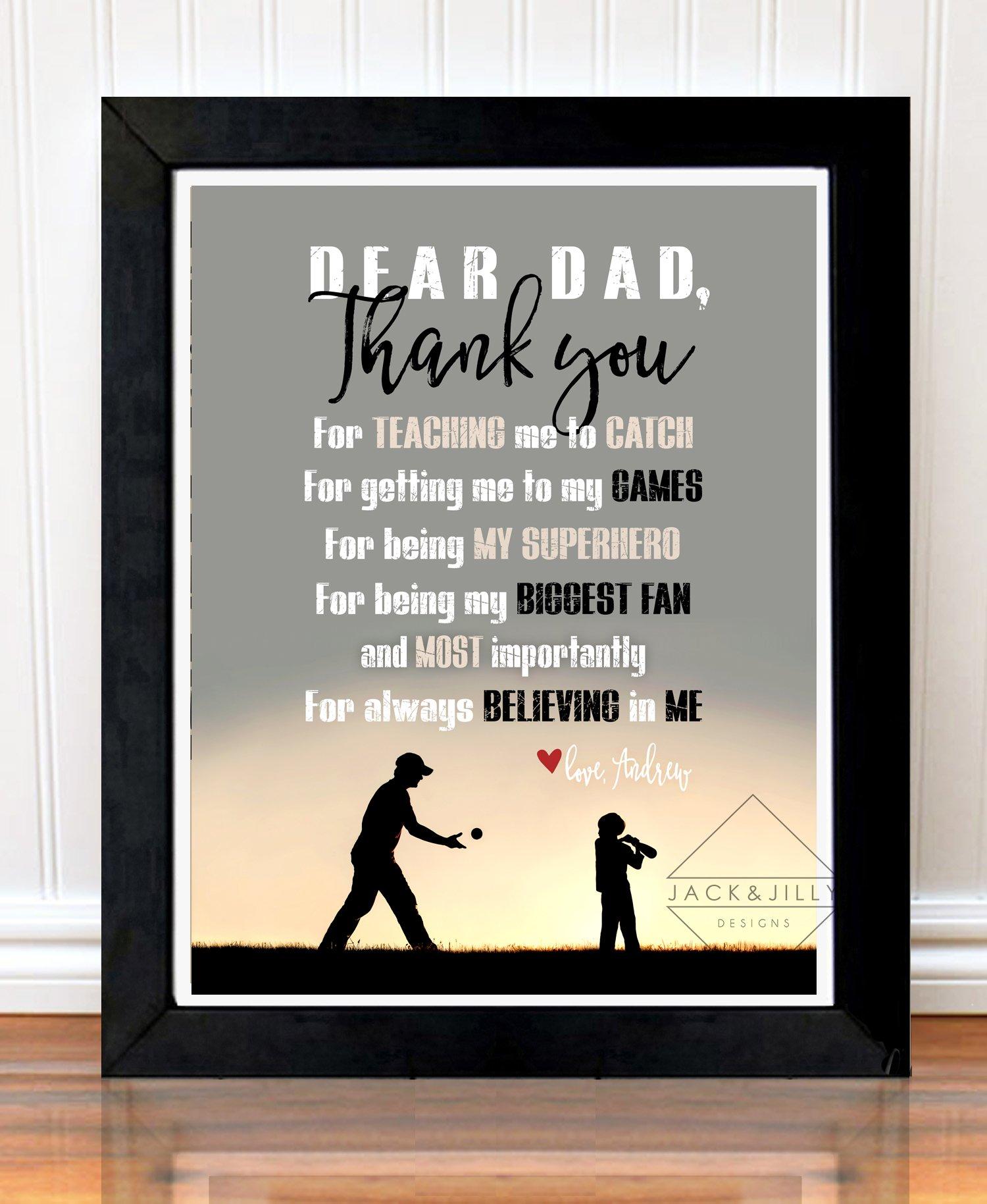 Dad Baseball Print