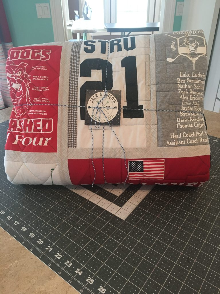 Ben's Quilt - all wrapped up