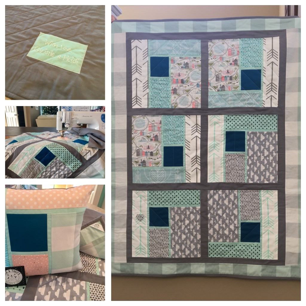 Bridesmaid Dresses -- Baby Quilt