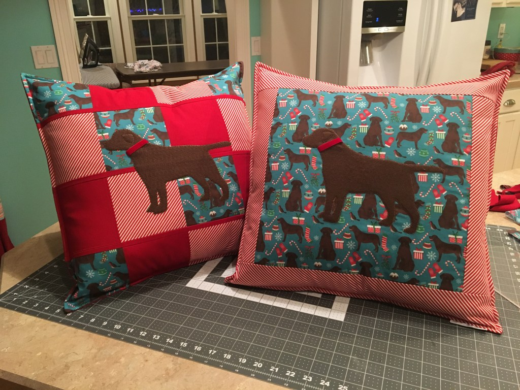 Chocolate Labs Throw Pillows