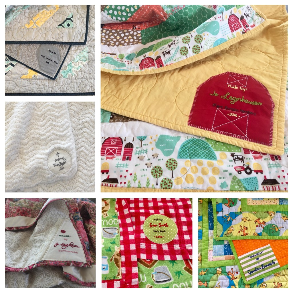 Custom Quilt Tags - Hand Embroidered