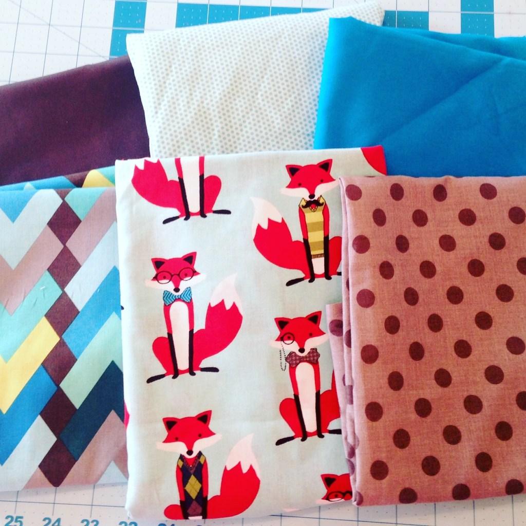 Dapper Foxes Quilt - fabric bundle