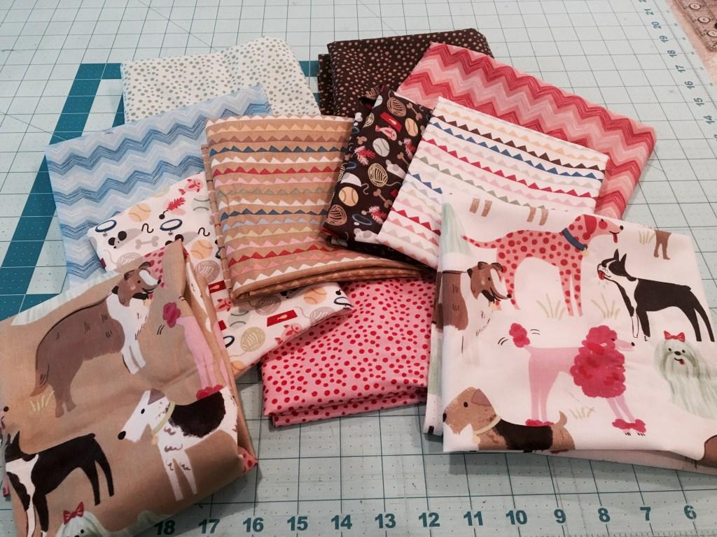 Dog Paws Quilt - fabric bundle