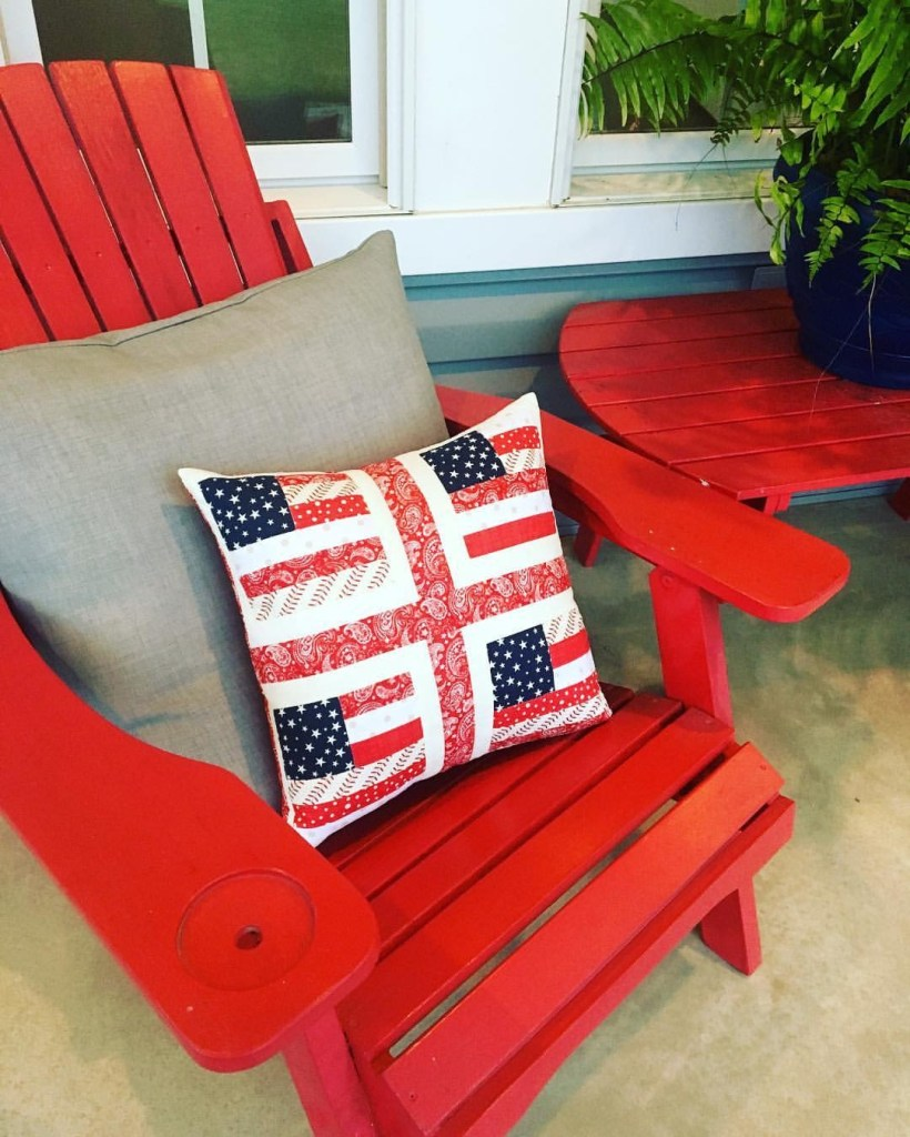 Flag Quilted Throw Pillow