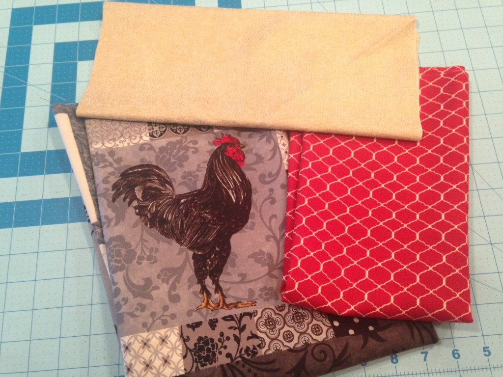 French Chicken apron - fabric bundle