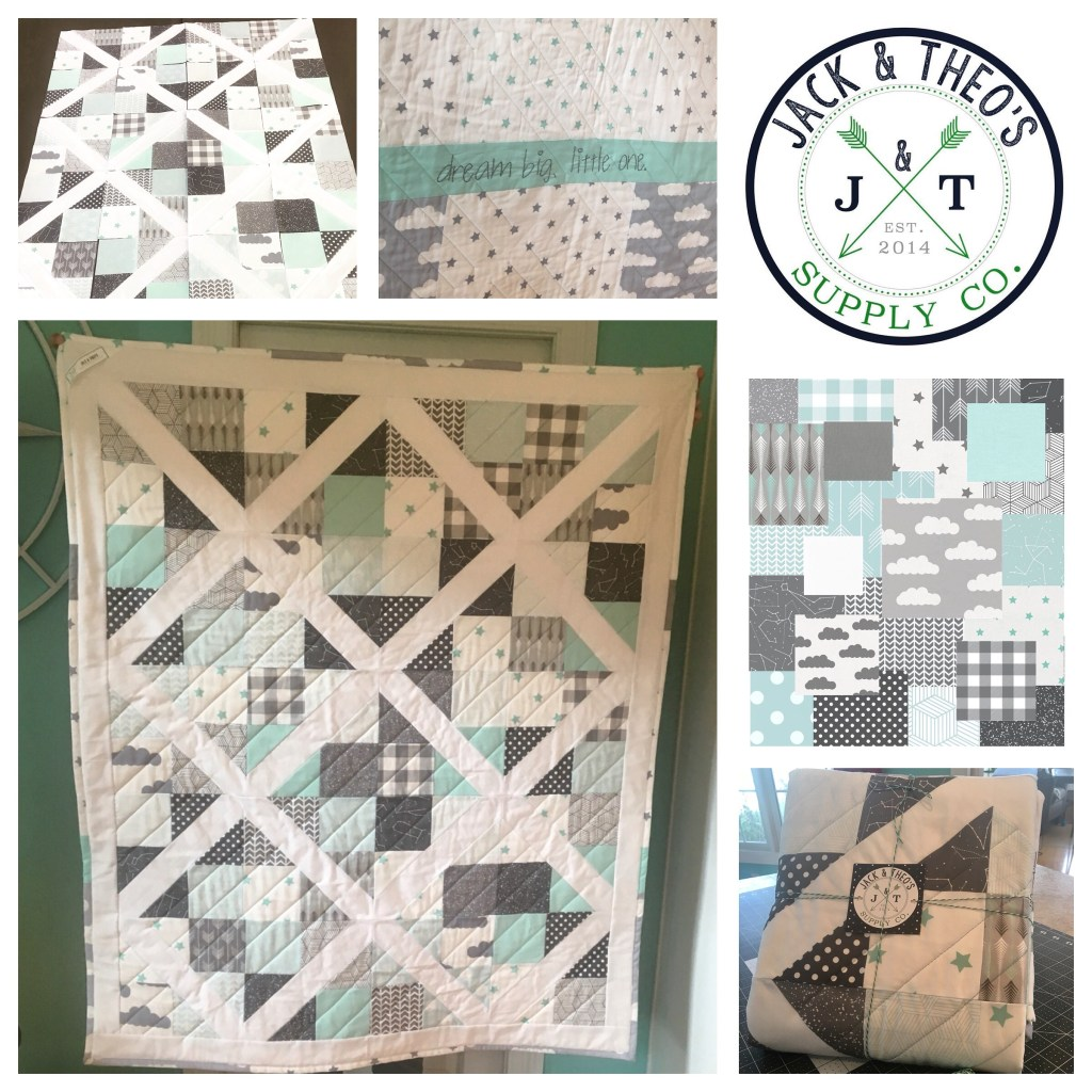 Garden Trellis Mint Gray Bridesmaid Dresses -- Baby Quilt
