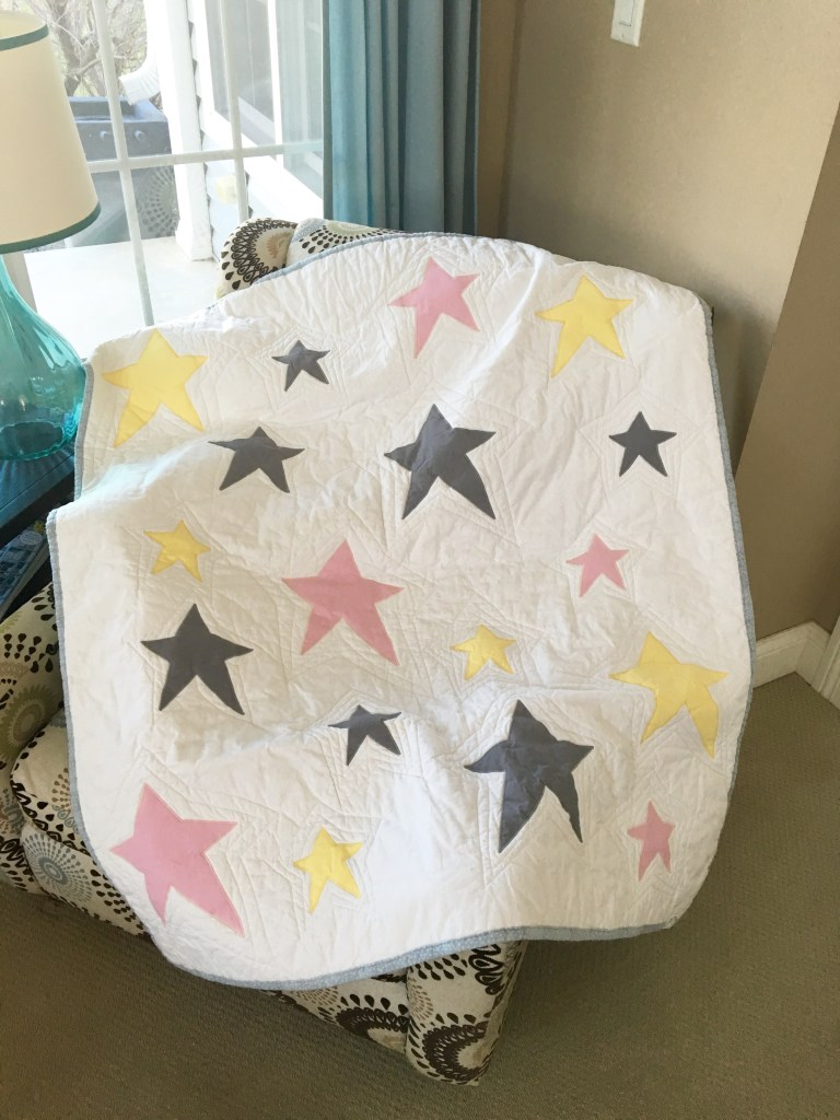 Hannah's 'Wonky Stars' Baby Quilt