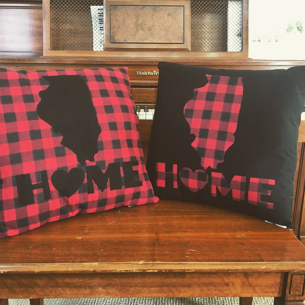 'Home' Flannel Pillow Shams