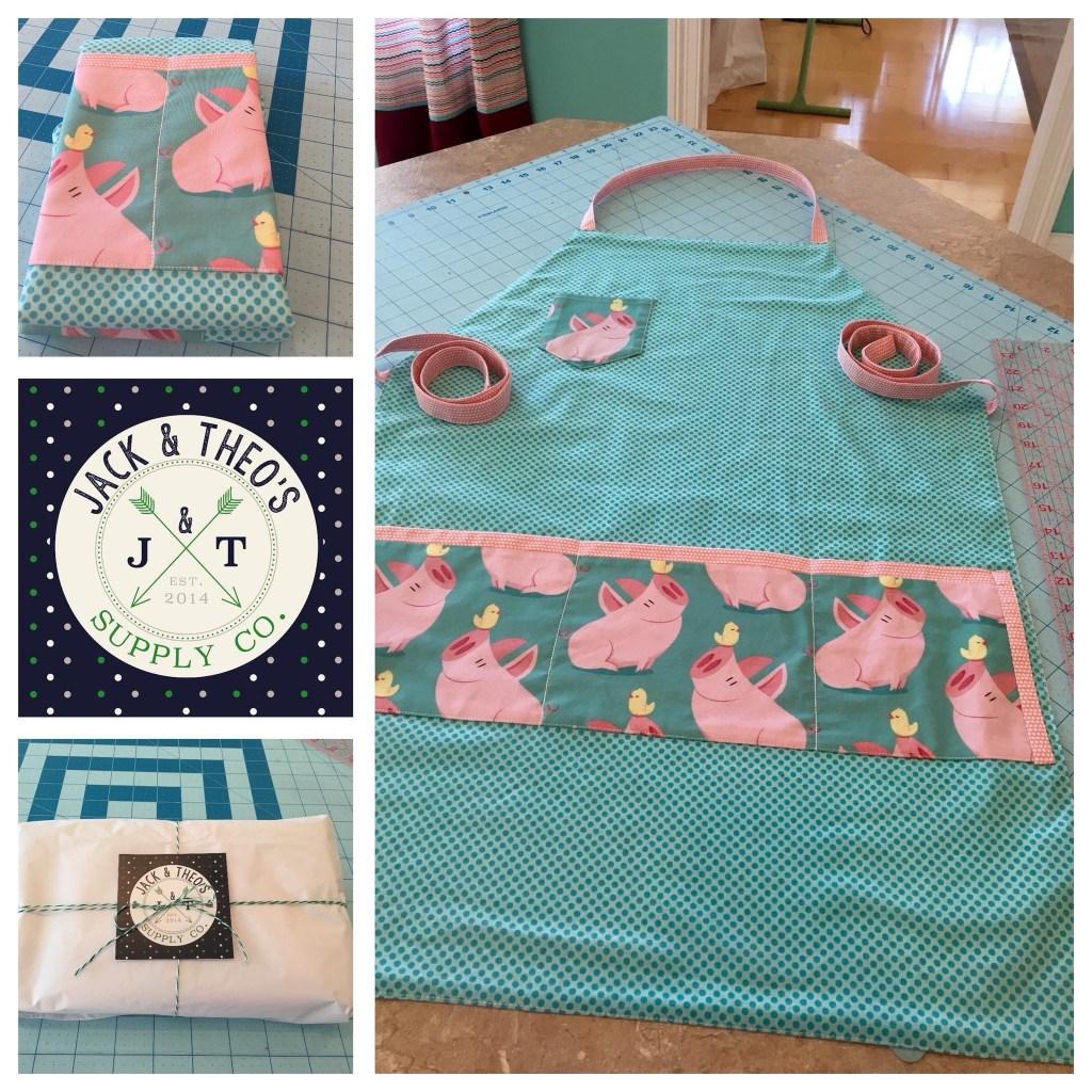 Lauren's 'This Little Piggy' full apron