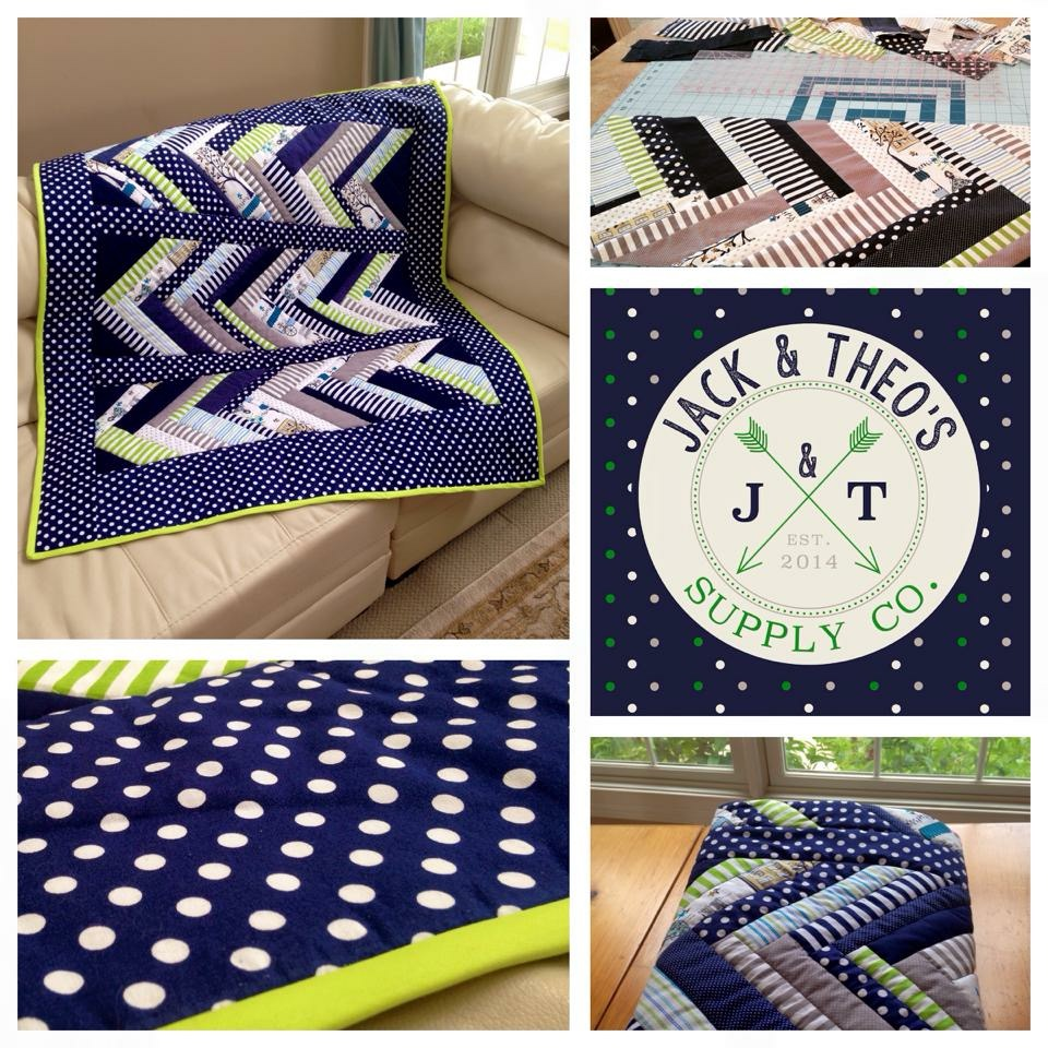Preppy Points Throw Quilt