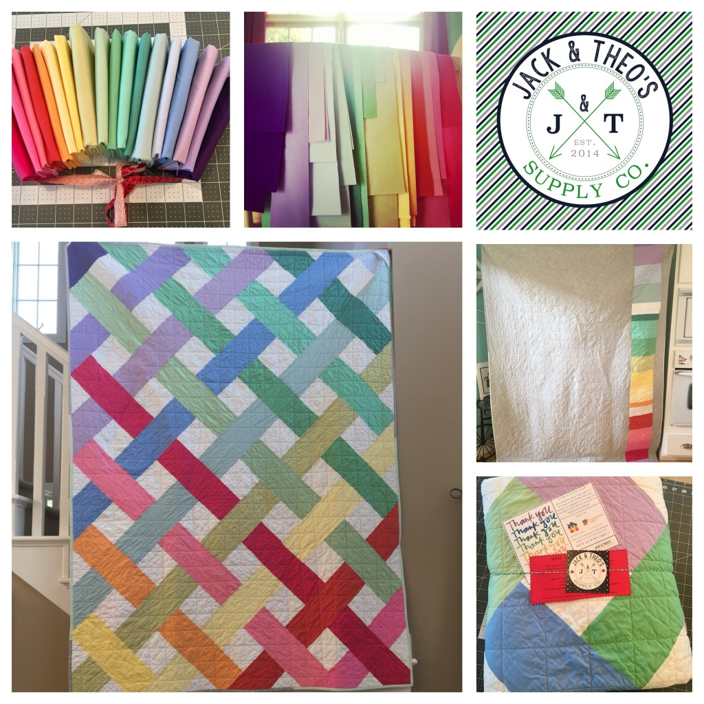 Pride Charity Quilt - Watercolor Rainbow
