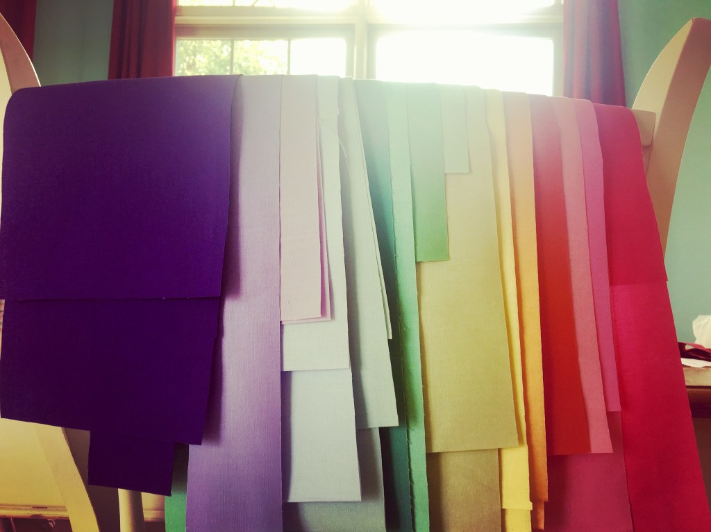 Rainbow strips - fabric bundle
