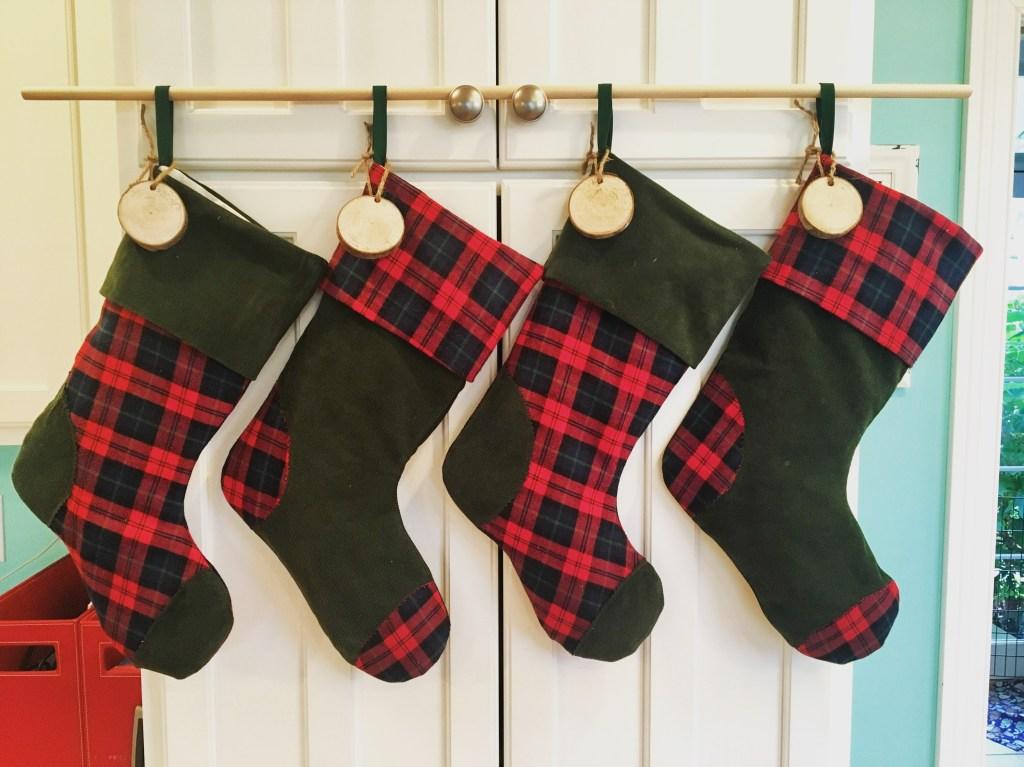 Upcycled Corduroy & Plaid Stockings