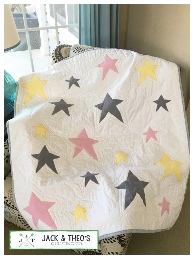 Hannah's Wonky Stars - Bespoke Custom Quilt Jack & Theo's Quilt Co