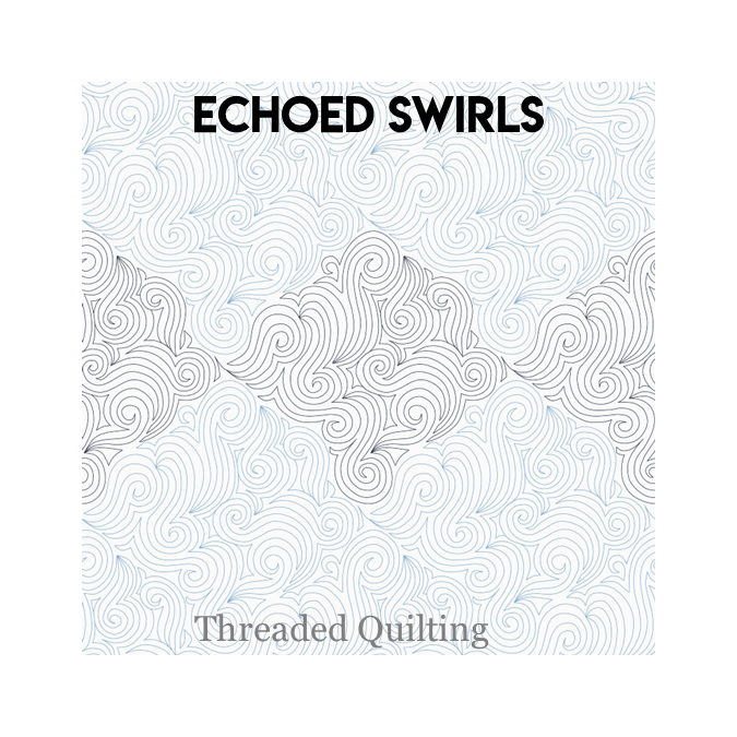 Echoed Swirls - Threaded Quilting