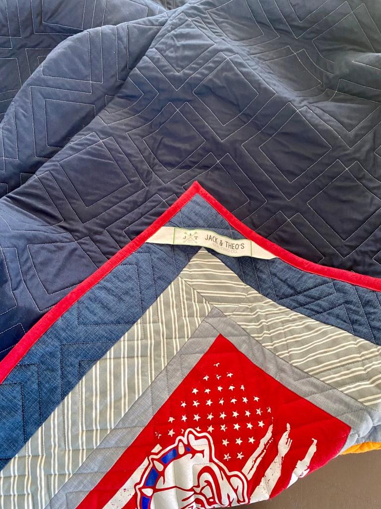 diagonal plaid longarm quilting