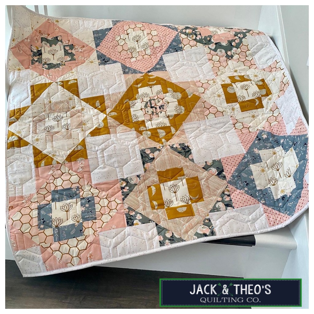 Teghan Marie's Meadowland Custom Baby Quilt - Art Gallery Fabrics - Then Came June Meadowland Pattern