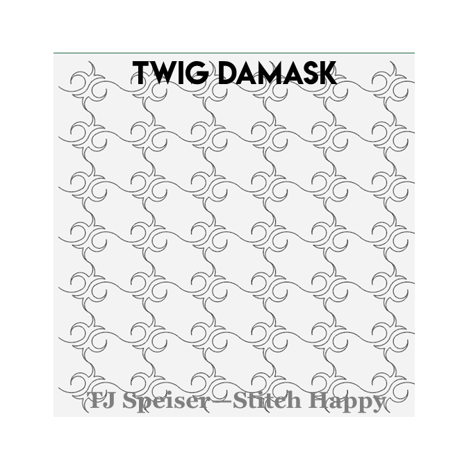 Twig Damask - TJ Speiser Stitch Happy