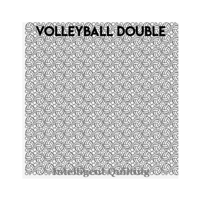Volleyball Double - Intelligent Quilting