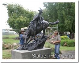 Statue in Corryong