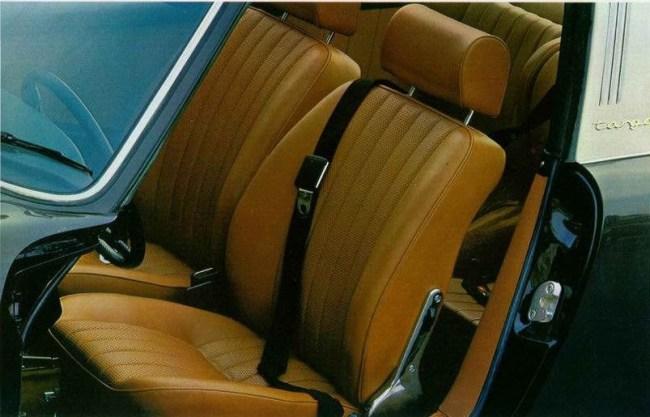 1969 Targa interior, from the brochure