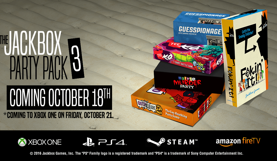The Jackbox Party Pack 3 Has A Release Date