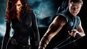 black widow and hawkeye