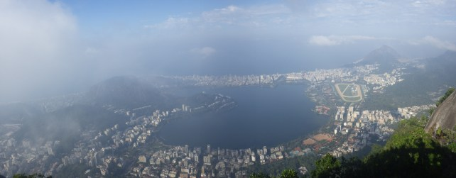 A misty panoramic view from the Corcovado