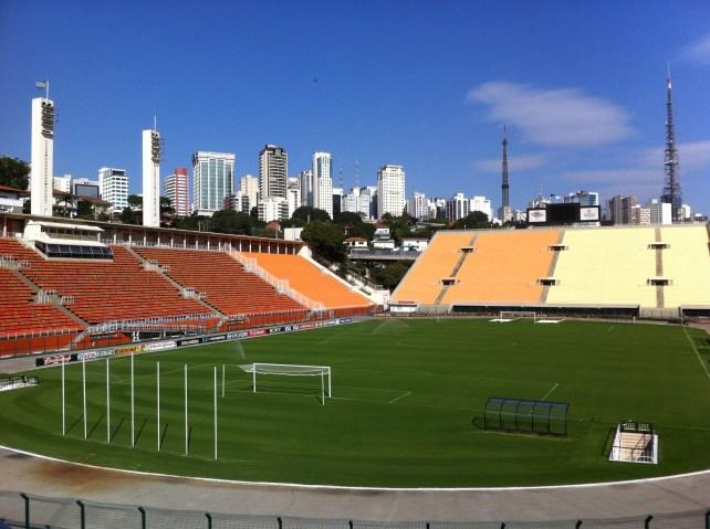 The public stadium housing the Museu do Futebol