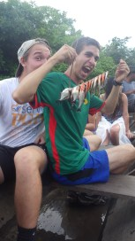 Sam & Tobias have the taste for piranha now!