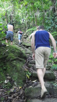 Climbing 1,200 steps to the lost city