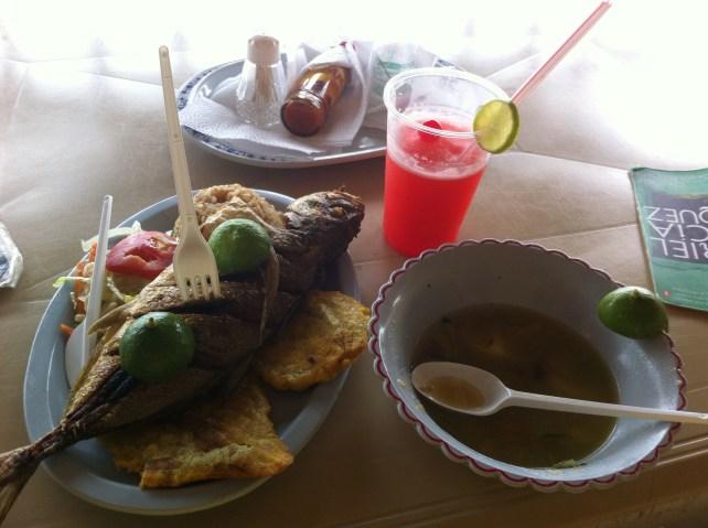 Fresh fish, juice and a Gabriel Marquez novel