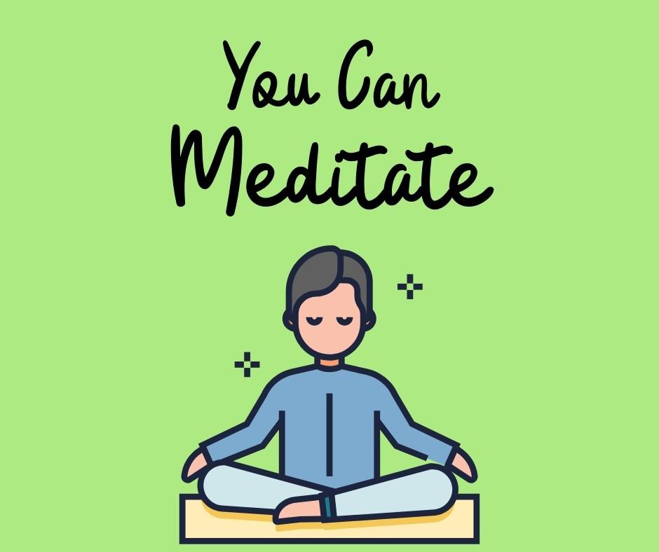 person meditating in lotus posture illustration