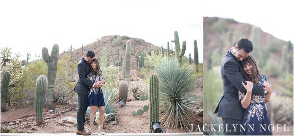 Engagement session at the Botanical Garden in Scottsdale, Arizona
