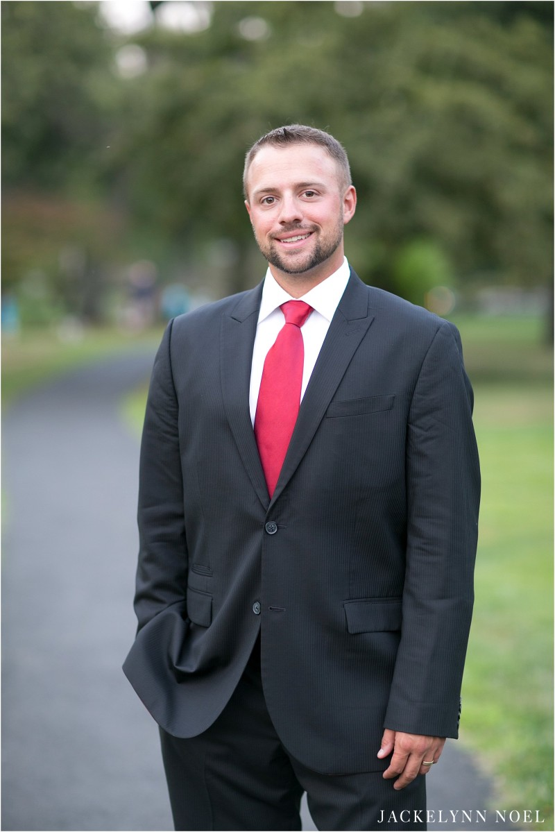 Portrait of Matt, the groom.