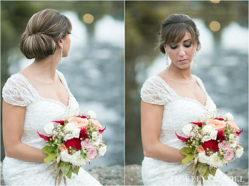 Photos of Leila's hair and makeup.