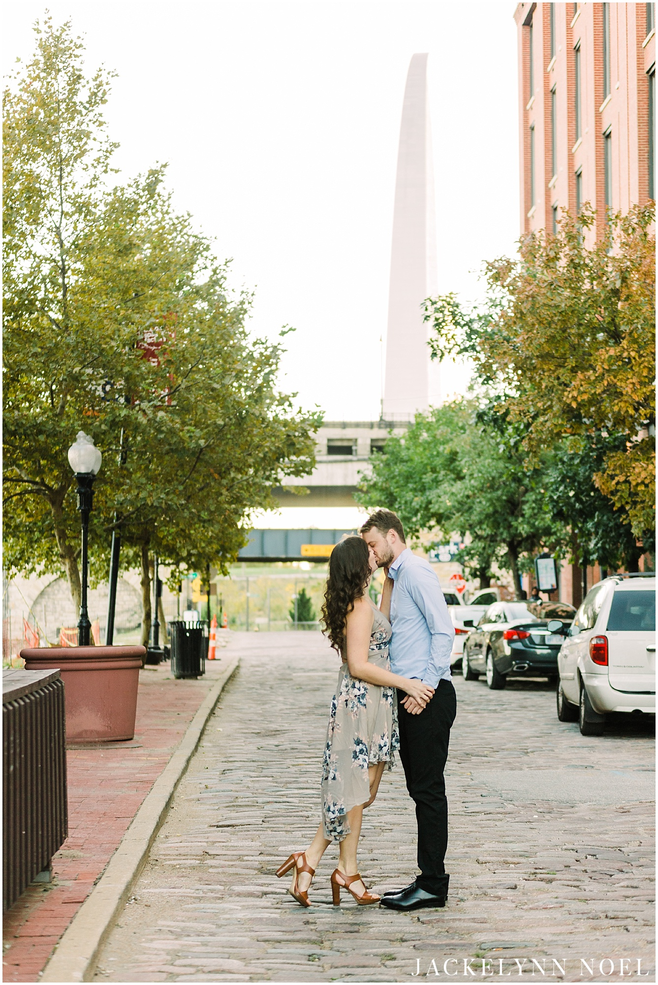 Danika & Joe engagement session at the St. Louis Landing by Jackelynn Noel Photography