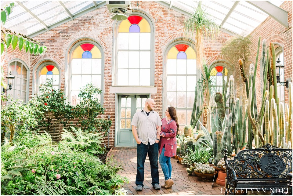 Alicia and Chris's Botanical Gardens and Downtown St. Louis Engagement Session